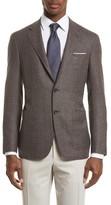 Canali Men's Kei Classic Fit Hopsack Wool Blazer