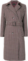 Etro checked belted coat