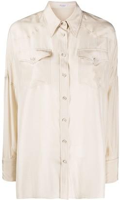 Brunello Cucinelli Western-Panel Patch Pocket Shirt