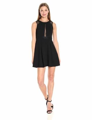 BCBGeneration Women's Black Lace Fit&Flare Dress 6