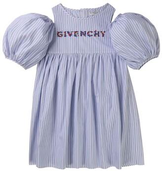 Givenchy Kids Cotton Poplin Logo Dress (4-14 Years)