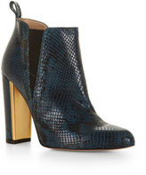 BCBGMAXAZRIA Tilly High-Heel Snake Embossed Leather Bootie
