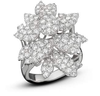 Bloomingdale's Diamond Cluster Flower Statement Ring in 14K White Gold, 3.10 ct. t.w. - 100% Exclusive
