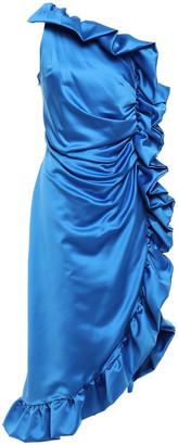 Ainea One-shoulder Ruffled Duchesse-satin Dress