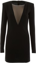 DSQUARED2 Mini Dress With Tulle Insert