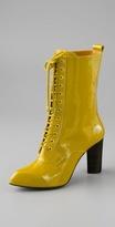 Jeana Patent High Heel Granny Boot