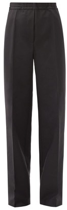 Acne Studios Pamie Wide-leg Wool-blend Trousers - Black