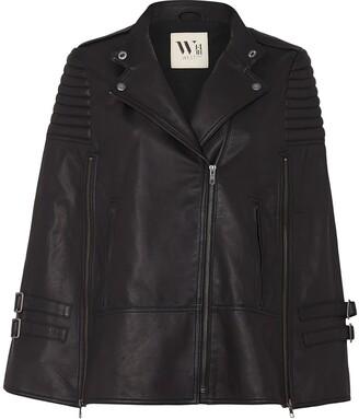 Crosby Cape Black Leather