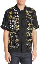 Versace Jeans Short-Sleeves Logo Color-Block Regular Fit Shirt