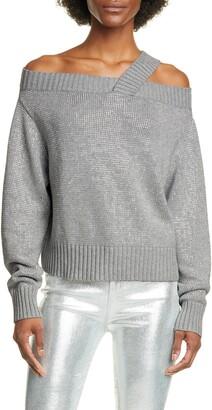 RtA Beckett Strap Detail Rhinestone Sweater