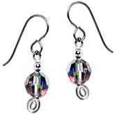Body Candy Solid Titanium Rainbow Dazzle Bead Earrings Created with Swarovski Crystals