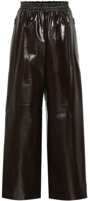 Bottega Veneta High-rise wide-leg leather pants