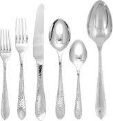 Gingko International Starlight 42-pc. 18/10 Stainless Steel Hammered Flatware Set