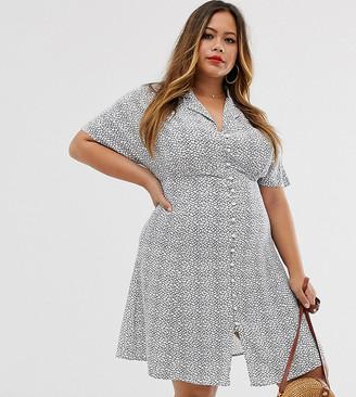 Vero Moda Curve tea dress in mono print