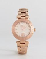 Versace S7713 Logo Bracelet Watch In Rose Gold