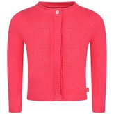 Ikks IKKSBaby Girls Fuchsia Cotton Knit Cardigan