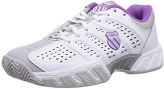 K-Swiss Performance Women's KS TFW Bigshot Light-WHT/GLLGRY/DWBRRY/ORCHDI Tennis Shoes White Size: 4