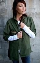 Blu Moon Studded Army Jacket