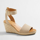 J.Crew Factory Strappy canvas espadrille wedges