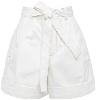 See by Chloe Belted Cotton-blend Twill Shorts