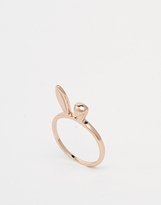 Asos Bunny Ears Ring - Rose gold