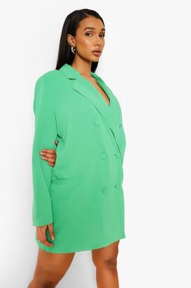 boohoo Oversized Tailored Blazer Dress