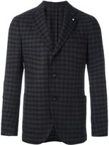 Lardini checked blazer - men - Cupro/Viscose/Cashmere/Wool - 46