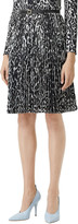 Burberry Rersby Pleated Leopard-Print Skirt