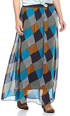 Catch My I Patchwork Maxi Skirt