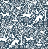 A Street Prints A-Street Prints Meadow Navy Animals Wallpaper