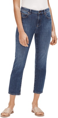Eileen Fisher Straight Leg Ankle Crop Jeans