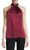 Ramy Brook Paige Halter Sleeveless Satin Top