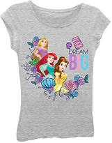 Freeze Heather Gray Disney Princess 'Dream Big' Tee - Girls