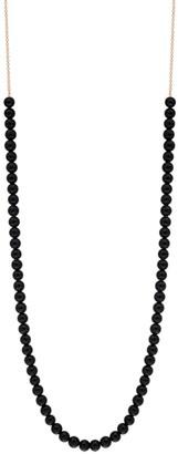 ginette_ny Mini Boulier Black Onyx Rose Gold Necklace