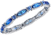 2028 Silver-Tone Blue Crystal Stretch Bracelet