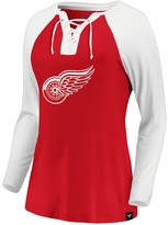 Nhl Women's Detroit Red Wings Lace-Up Breakout Tee