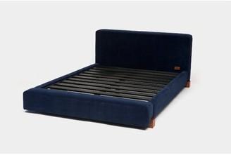 Artless Upholstered Platform Bed Size: King, Color: Blue