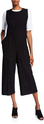 Eileen Fisher Petite Cropped Ponte Tank Jumpsuit