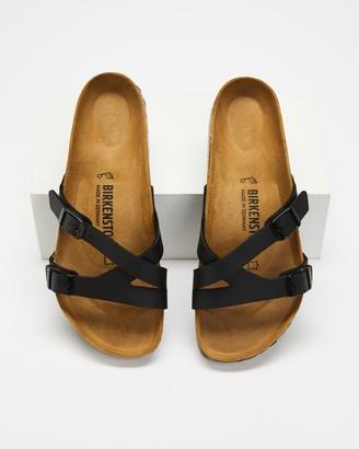 Birkenstock Women's Black Strappy sandals - Yao Birko-Flor Regular - Women's - Size 36 at The Iconic