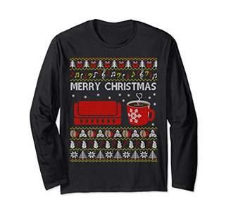 Harmonica Coffee Ugly Christmas Sweater Men Women Funny Gift Long Sleeve T-Shirt