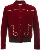 Saint Laurent musical notes teddy jacket