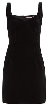 Emilia Wickstead Judita Sweetheart-neck Velvet Mini Dress - Black
