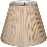 Royal Designs Deep Empire Gather Pleat Basic Lampshade - Beige 9 x 18 x 14