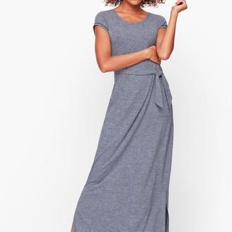 Talbots Tie Front Stripe Maxi Dress