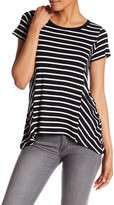 Cable & Gauge Lace-Up Striped Tee