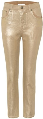 Chloã© Exclusive to Mytheresa a Metallic cropped jeans