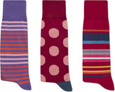 Paul Smith Striped Cotton-blend Socks Pack Of Three
