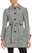 Gallery Tweed Belted Coat