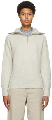 Etoile Isabel Marant Grey Wool Fancy Half-Zip Sweater