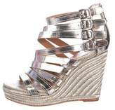 Vince Camuto Metallic Leather Wedges